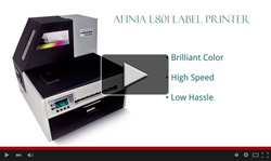 Afinia L801 with Memjet Technology Digital Label Printer video