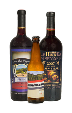 High-quality beer, wine, and liquor labels