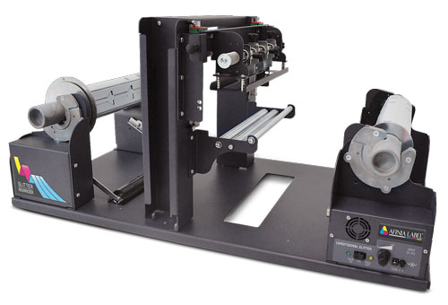 Afinia Label's automatic label slitter and rewinder