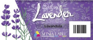 Lavender Essential Oil Label