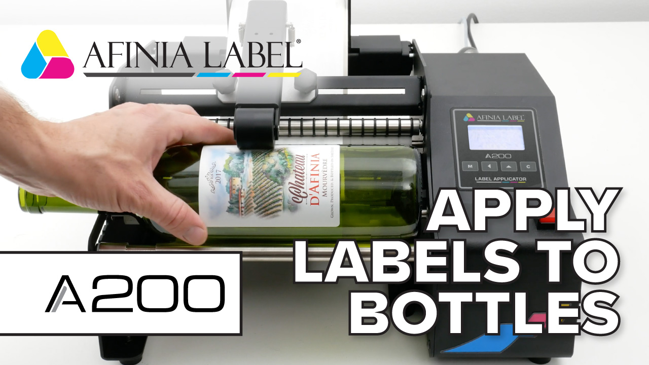 Apply labels to bottles with the Afinia Label A200