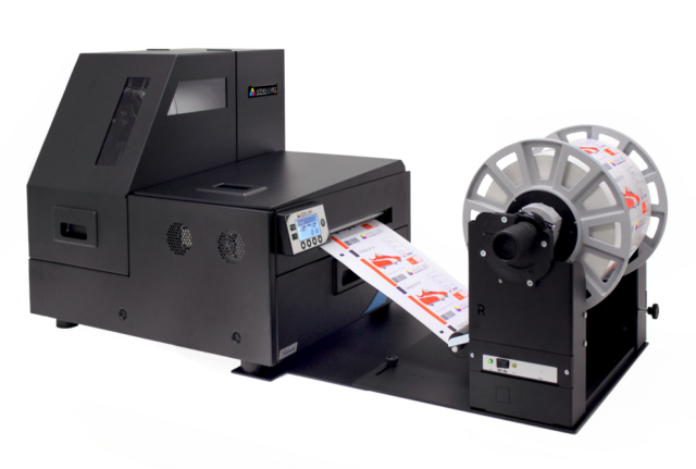 Afinia Label L801 Rewinder for roll to roll labeling