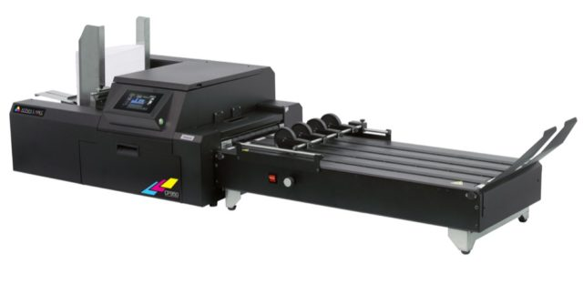 Optional conveyer system for the CP950 from Afinia Label