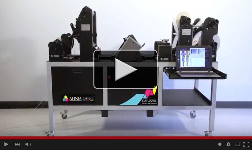 Afinia Label DLF-220L Digital Label Finisher video