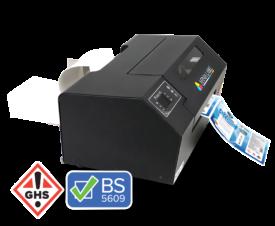 L502 Fanfold Color Label Printer for Chemical, drum labels
