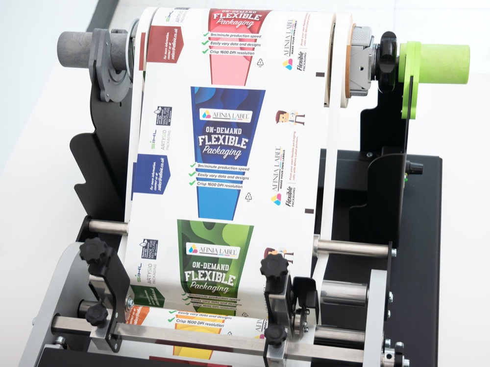 short run print to roll flexible packaging