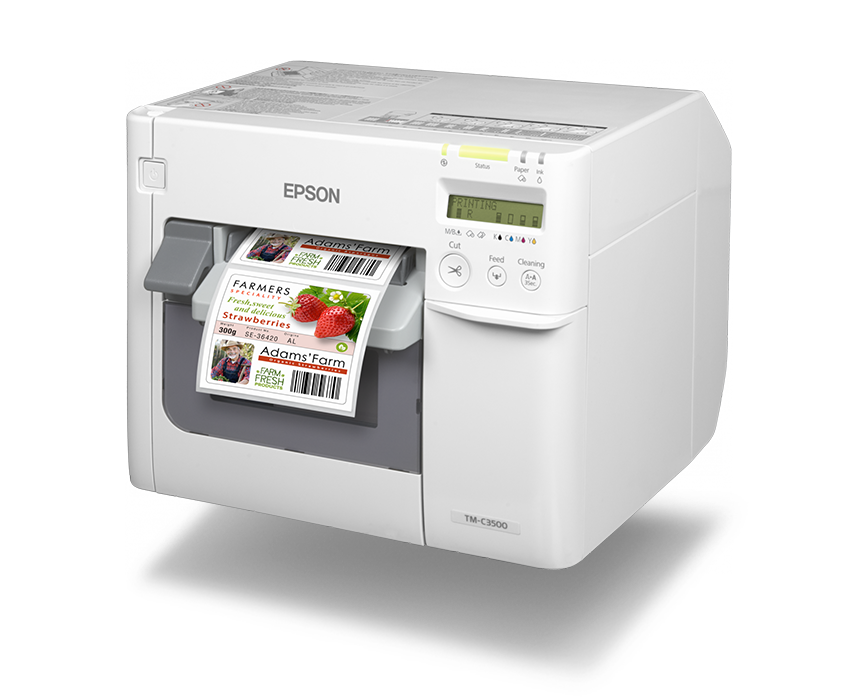 Afinia Label Epson ColorWorks C3500 Inkjet Label Printer