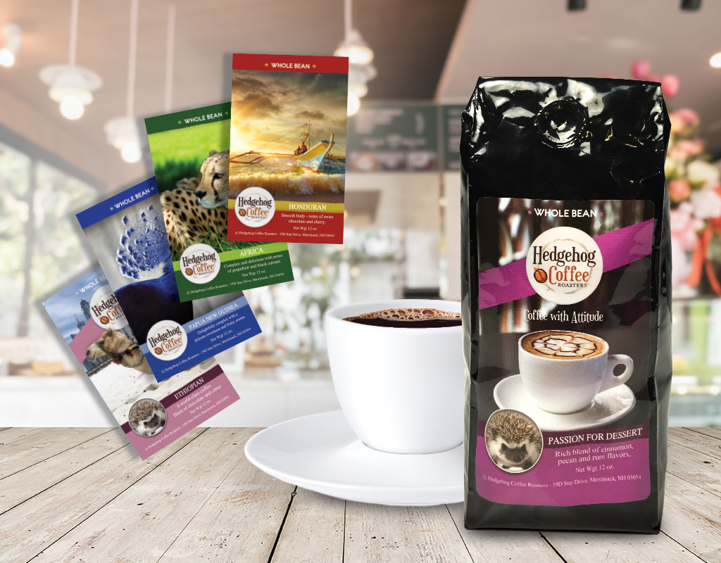 Coffee roaster and shop labels case study - Afinia Label printers