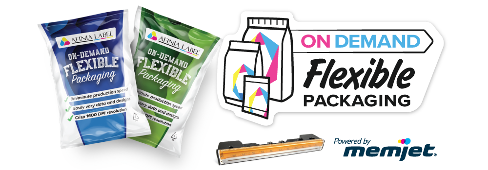 On-demand flexible packaging FP-230 flex pack press printer powered by memjet