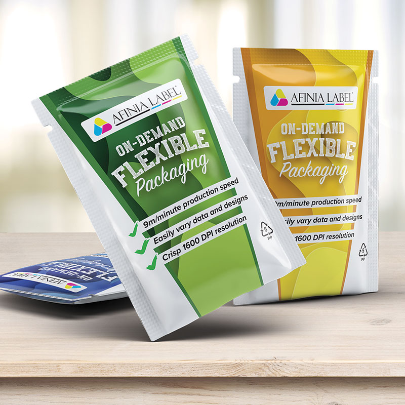 Flexible packaging on-demand printing for small runs from Afinia Label