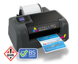 BS5609 GHS compliant L501 durable color label printer from Afinia Label