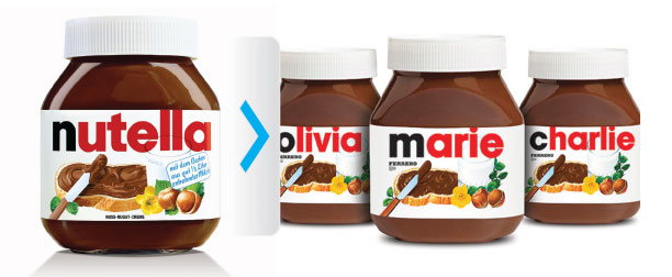 Customized Nutella at Kmart stores