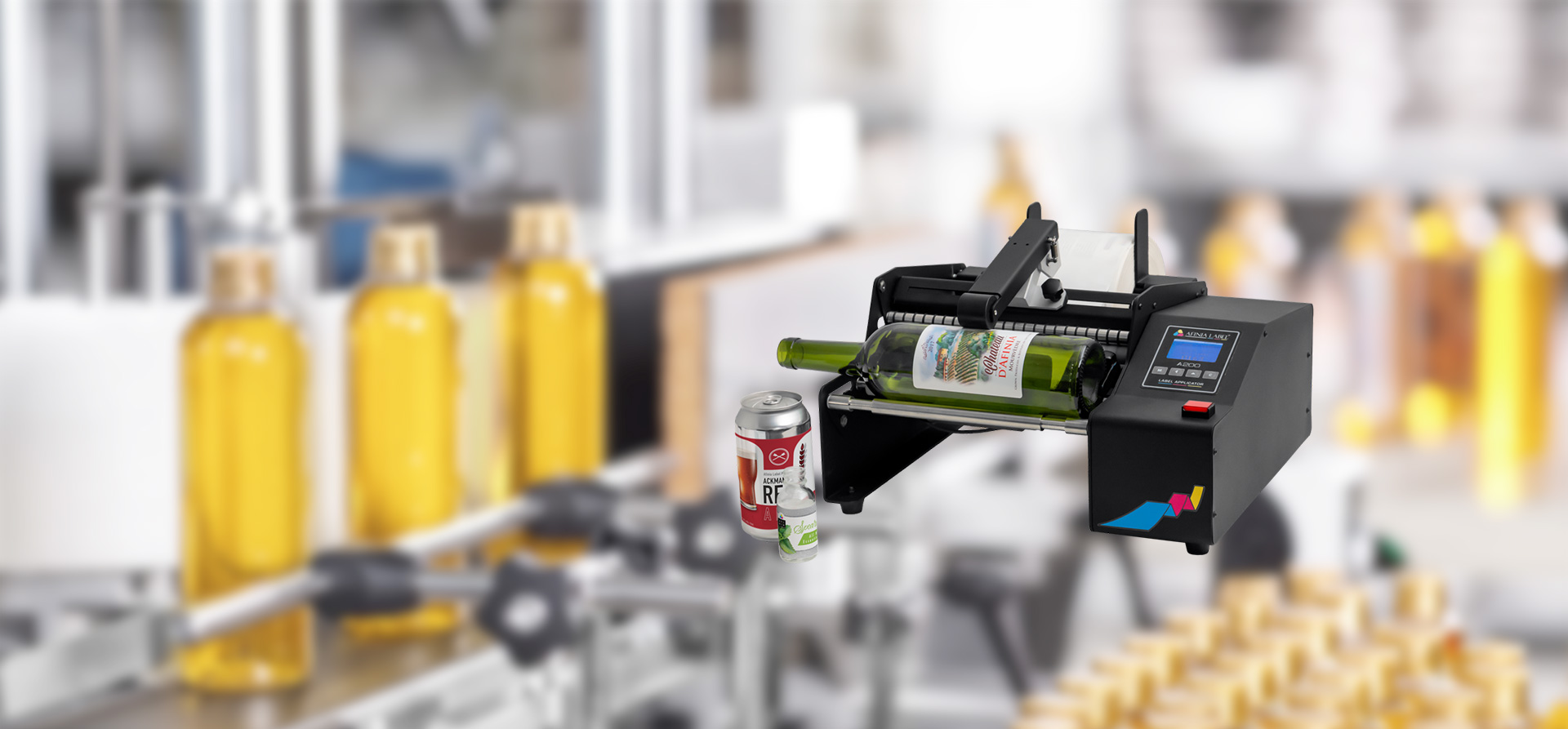 A200 Bottle Label Applicator from Afinia Label