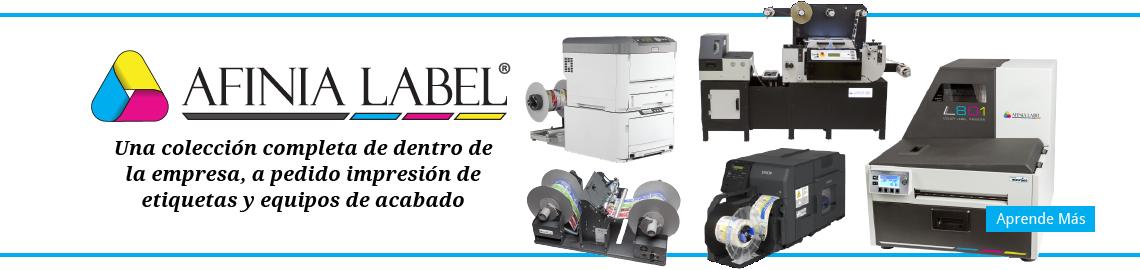 Una línea completa de impresoras y acabadoras de etiquetas a color para uso interno, por demanda en su empresa
